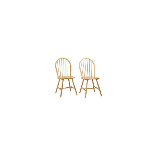 Whitton Pair of Chairs, Natural Finish