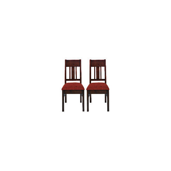 Finest Malabar Pair of Chairs, Red