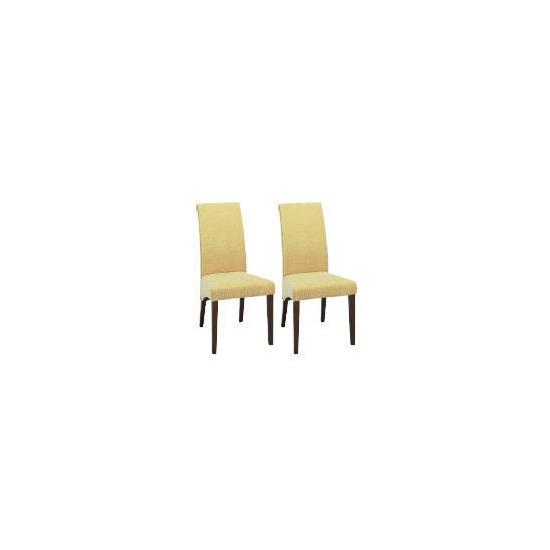 Florence Pair of Chairs, Dark Wood & Honey