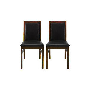 Photo of Hanoi Pair Of Dining Chairs, Walnut Finish Furniture