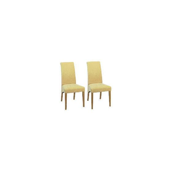 Florence Pair of Chairs, Oak & Honey