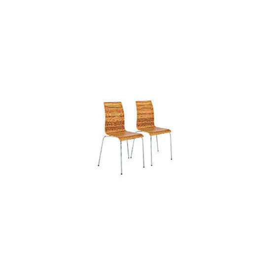 Padova Pair of Stacking Chairs, Zebrano Finish
