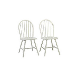 Photo of Whitton Pair Of Chairs, White Finish Furniture