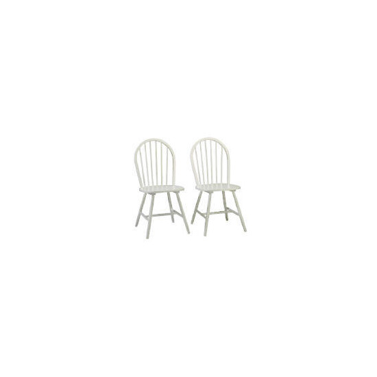 Whitton Pair of Chairs, White Finish
