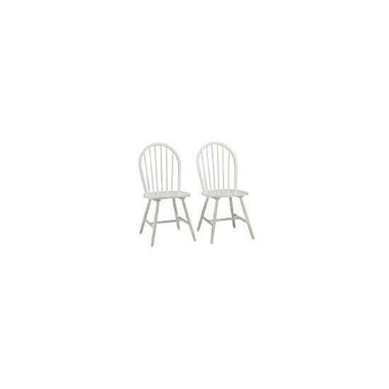 Whitton Pair of Chairs, White Finish