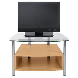 Photo of Beech Effect 1 Shelf TV Unit Small TV Stands and Mount