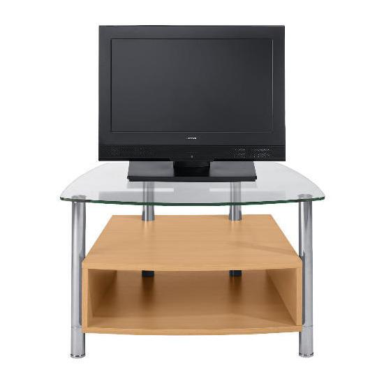 Beech Effect 1 Shelf Tv Unit Small