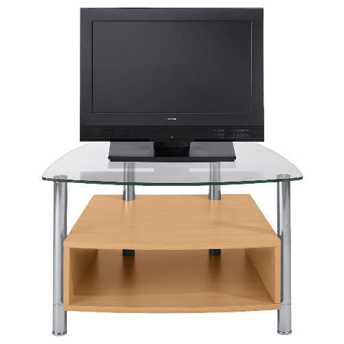 Beech Effect 1 Shelf Tv Unit Small Lcd Stand And Plasma