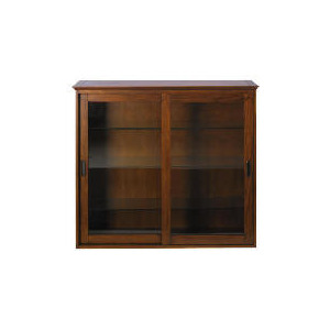 Photo of Belize 2 Doors Display Cabinet, Dark Finish Furniture