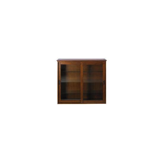 Belize 2 doors Display Cabinet, dark finish