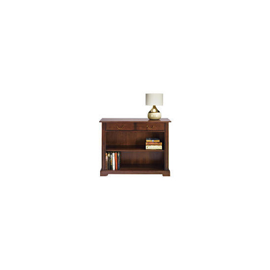 Finest Malabar 2 drawer Console, Dark Wood Finish