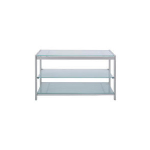 Photo of Stanford Glass & Metal 3 Shelf TV Unit TV Stands and Mount