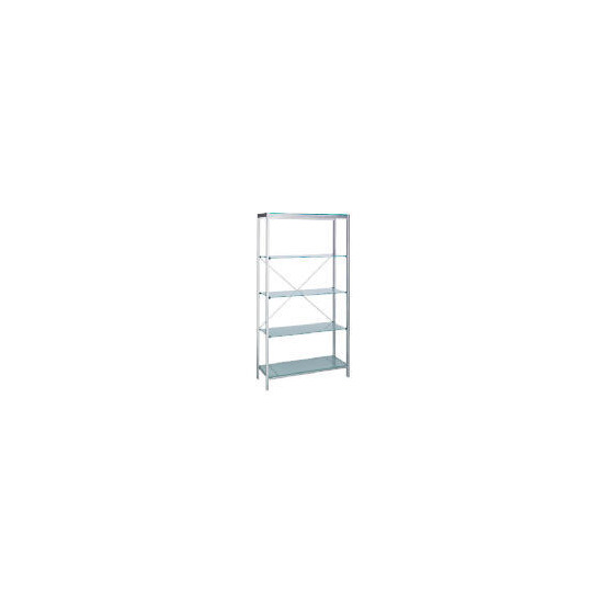 Stanford Glass & Metal 4 shelf Storage