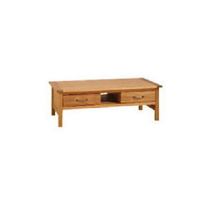 Photo of Hamilton 2 Drawer Coffee Table With Shelf, Oak Furniture