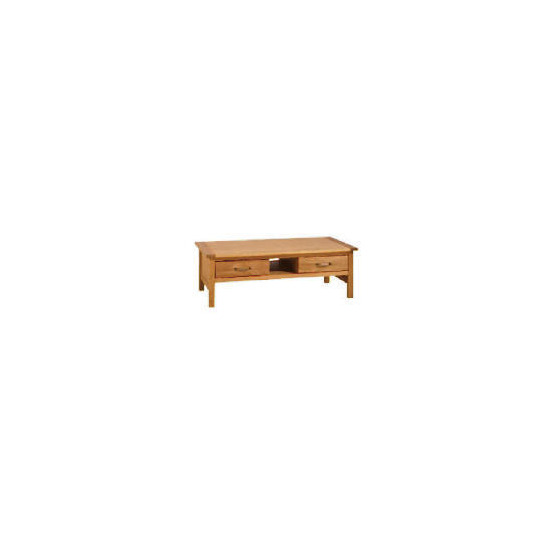 Hamilton 2 drawer Coffee Table with shelf, Oak