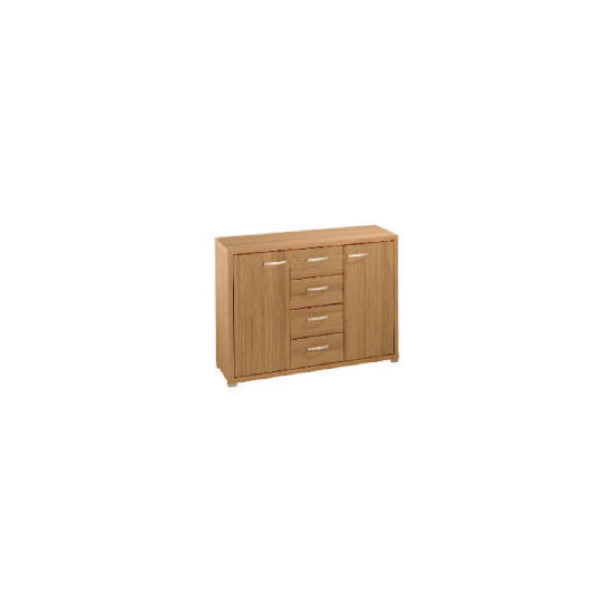 Munich 2 door 4 drawer Sideboard, Oak effect