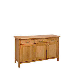 Hamilton Sideboard 3 drawer 3 door, Oak Reviews