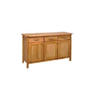 Photo of Hamilton Sideboard 3 Drawer 3 Door, Oak Furniture