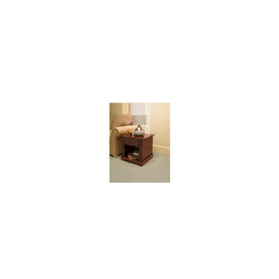 Finest Malabar Side Table, Dark Wood Finish