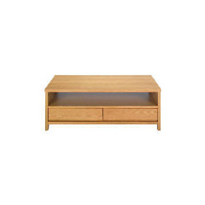 Photo of Monzora 2 Drawer Coffee Table, Oak Effect Furniture