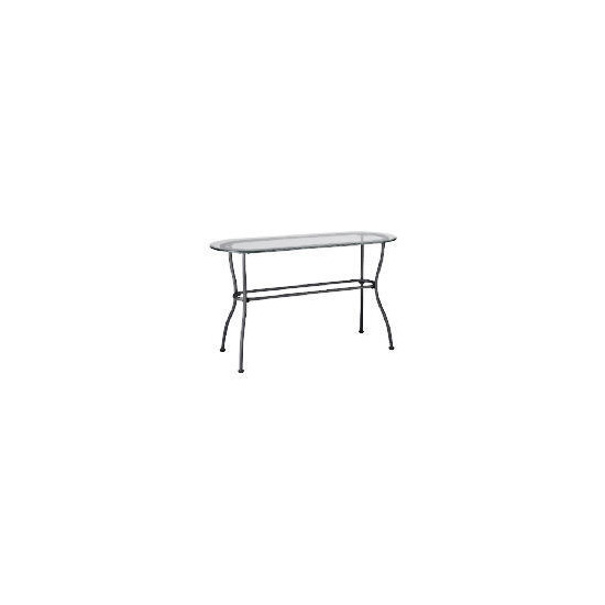 Selerno Glass & Metal Console Table