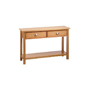 Photo of Oakland 2 Drawer Console Table, Oak Furniture