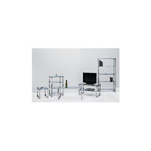Photo of Monzini Metal & Glass 4 Shelf Hi-Fi Unit Furniture