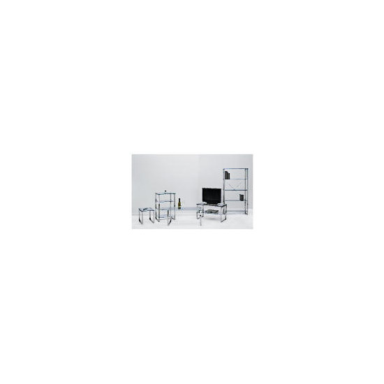 Monzini Metal & Glass 4 shelf Hi-Fi Unit