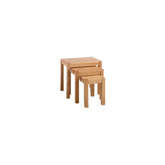 Campania Rubberwood Nest Set Of 3 Tables