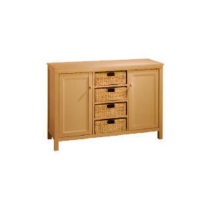 Photo of Manila 4 Drawer 2 Door Sideboard, Natural Furniture