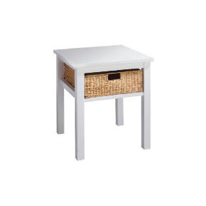 Photo of Manila 1 Drawer Side Table, White Furniture