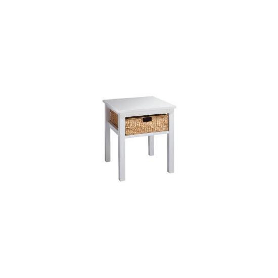 Manila 1 Drawer Side Table, White