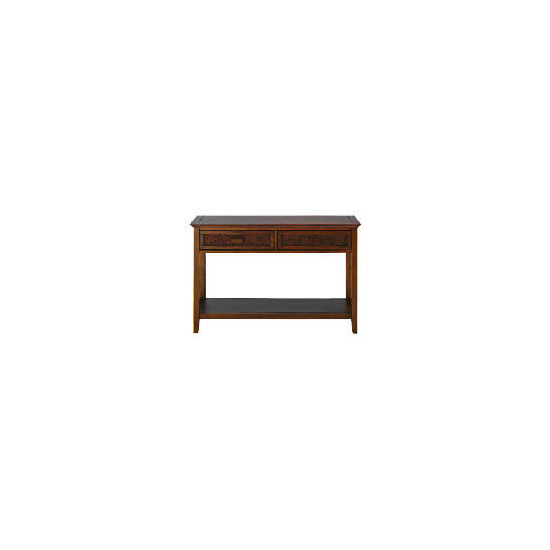 Belize 2 drawer Console Table, dark finish
