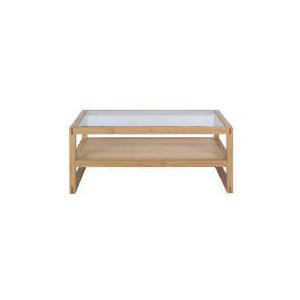 Photo of Finest Retiro Oak & Glass Coffee Table Furniture
