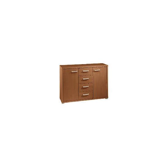 Munich 2 doors 4 drawer Sideboard, Walnut Effect