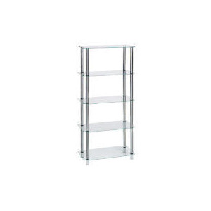Photo of Glass & Steel 5 Shelf Storage Furniture