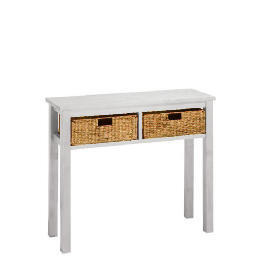 Manila 2 Drawer Console Table, White Reviews
