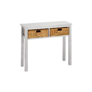 Photo of Manila 2 Drawer Console Table, White Furniture