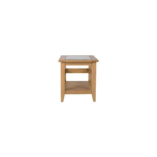 Lavenham Oak & Glass Side Table