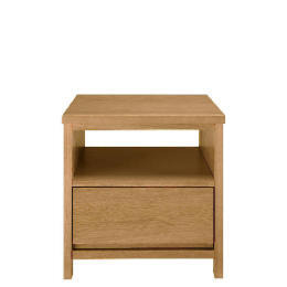 Monzora 1 drawer Side Table, Oak Effect Reviews