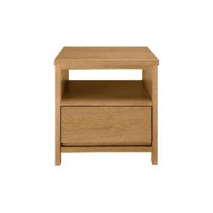 Photo of Monzora 1 Drawer Side Table, Oak Effect Furniture