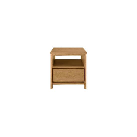 Monzora 1 drawer Side Table, Oak Effect