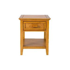 Photo of Belize 1 Drawer Side Table, Antique Finish Furniture