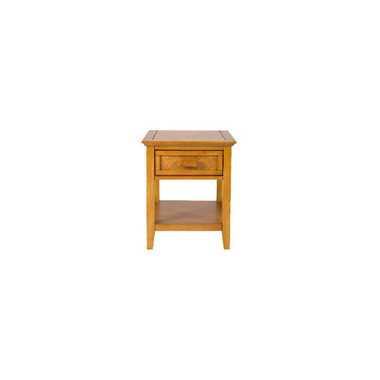 Belize 1 drawer Side Table, antique finish