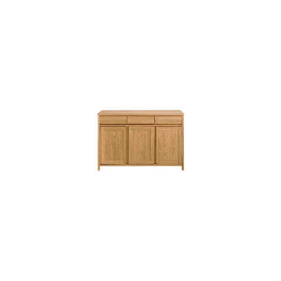 Monzora 3 drawer 3 doors Sideboard, Oak Effect