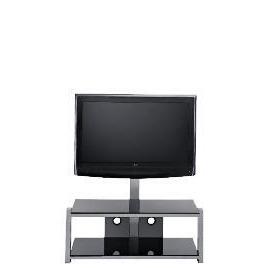 Glass 2 Shelf TV Unit Black Reviews
