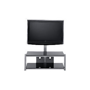 Photo of Glass 2 Shelf TV Unit Black TV Stands and Mount