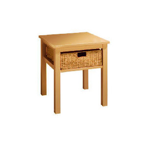 Photo of Manila 1 Drawer Side Table, Natural Furniture