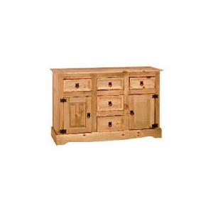 Photo of Honduras 5 Drawer 2 Door Sideboard, Pine Furniture