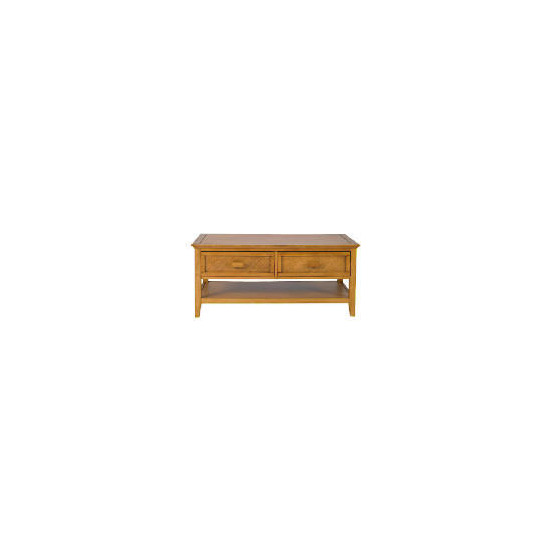 Belize 2 drawer Coffee Table, antique finish